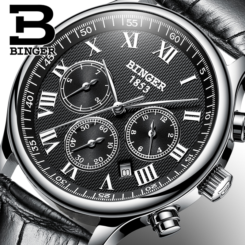 BINGER Mens High Quality Automatic mechanical Watches Men Top Brand Luxury Dive 30M Business full steel watch Man Clcok new business watches men top quality automatic men watch factory shop free shipping wrg8053m4t2