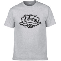 2019 summer fashion casual t shirt men poker printed t shirt funny tee shirts Hipster short sleeves cool PI