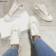 Vinapobo New 2018 Spring Summer Leather Shoes Men Sneakers L
