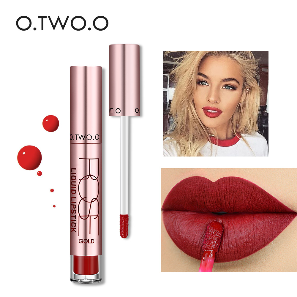 O.TWO.O 12colors Best Sale Hot Cosmetics Makeup Lip Gloss Long Lasting Waterproof Easy to Wear Matte Lipstick 38#