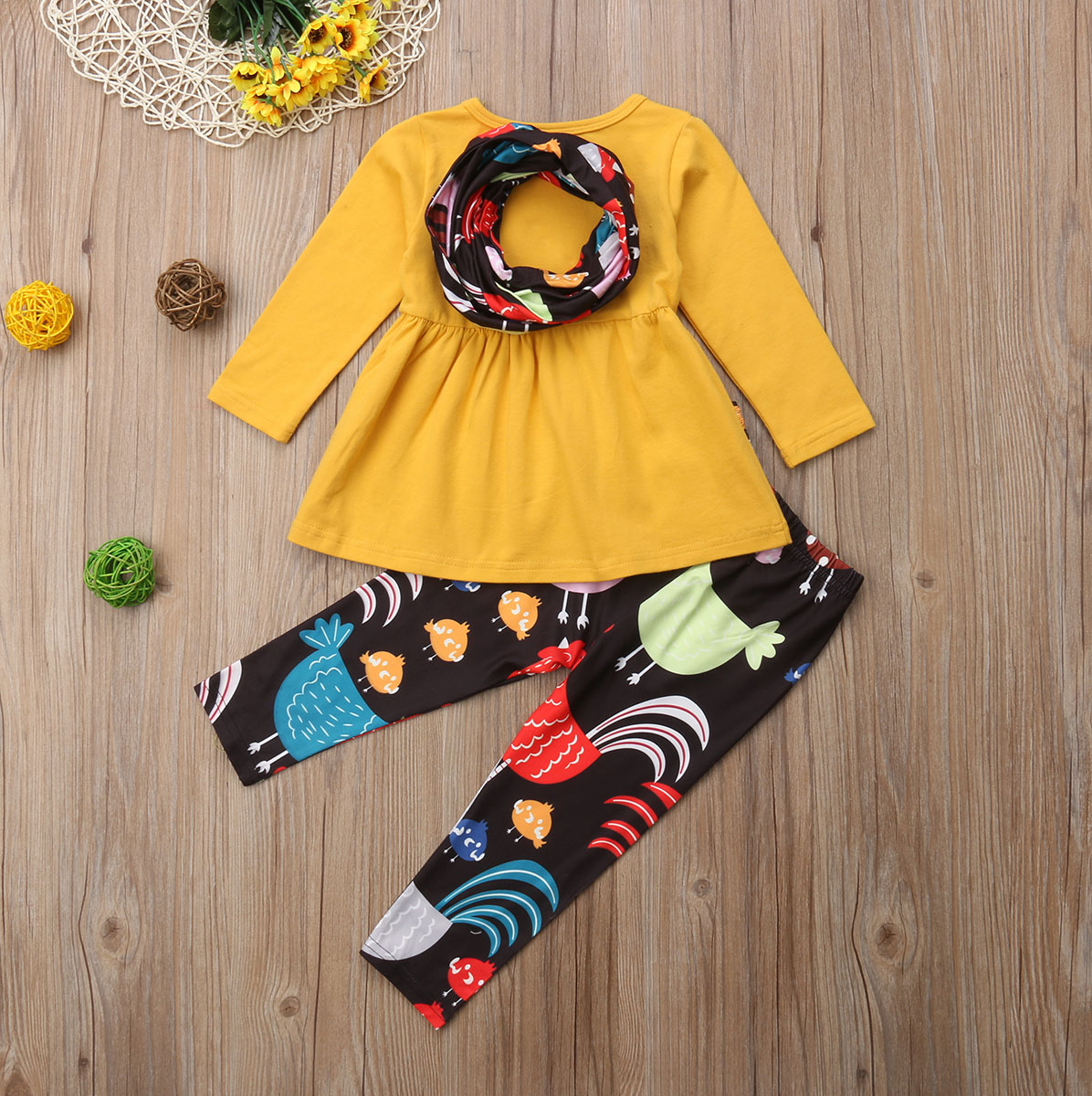 36701c58f5ec8 Aliexpress.com : Buy Thanksgiving Toddler Baby Girl Turkey Top Dress Pants  Leggings Outfit baby kids girl Girl thanksgiving turkey clothes set from  Reliable ...