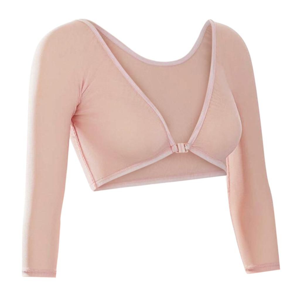 2019 New Fashion Style Women Both Side Wear Sheer Plus Size Seamless Arm Shaper Shirt Blouses #25