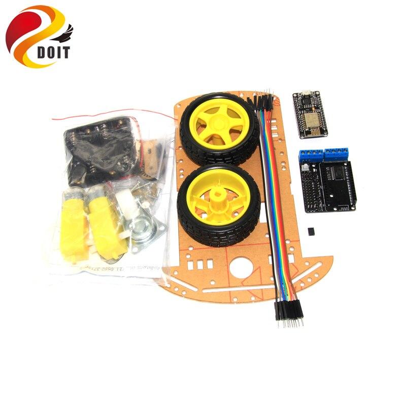 DOIT WiFi 2WD Smart Arduino Car Chassis Kit with Nodemcu ESP8266 Development Board+ESP-12E Motor Drive Shield DIY RC Toy