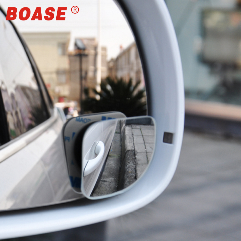 2pcs/lot Car Accessories Small Round Mirror Car Rearview Mirror Blind Spot Wide-angle Lens 360 degree Rotation Adjustable(China)