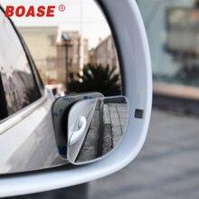 2 шт./лот, автомобильные аксессуары, маленькое круглое зеркало, Автомобильное зеркало заднего вида, широкоугольный объектив, вращение на 360 градусов, регулируемая