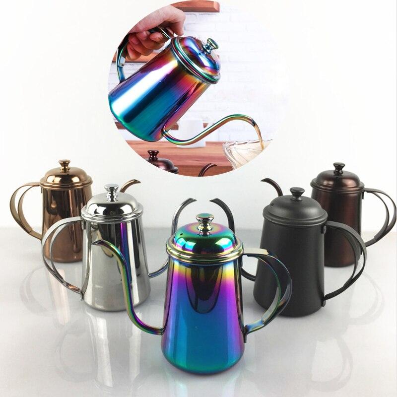 Koffie Fijne Mond Pot Ketel Meer Smalle Hand Blunt Pot Druppelen Gebrouwen Koffie Filter Theepot Hof Pot 304 Roestvrij Staal 650ml-in Servies sets van Huis & Tuin op  Groep 1