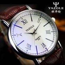Vogue Informal Males Watch girls Luxurious Model YAZOLE Excessive High quality Leather-based Enterprise quartz Watch Males Wristwatch relogio masculino