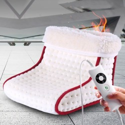 Heated Plug-Type Electric Warm Foot Warmer Washable Heats Control Settings Warmer Cushion Thermal Foot Warmer Massage