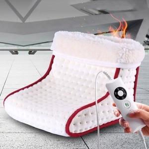 Image 1 - Podgrzewany typ wtyczki elektryczny ciepły ogrzewacz do stóp zmywalne ustawienia sterowania ciepłem cieplejsza poduszka termiczny ogrzewacz do stóp masaż
