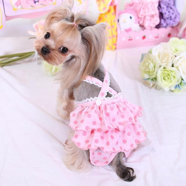 Panty Diaper Pet Underwear Skirt Pet Dog Puppy Diaper Physiological Sanitary Bow Short Panty Nappy Underwear