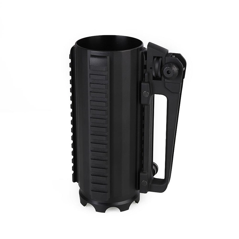 2018 New Outdoor Survival Tactical Glass Beer Mug Promotion Separation Aluminum Alloy Black Water Cup