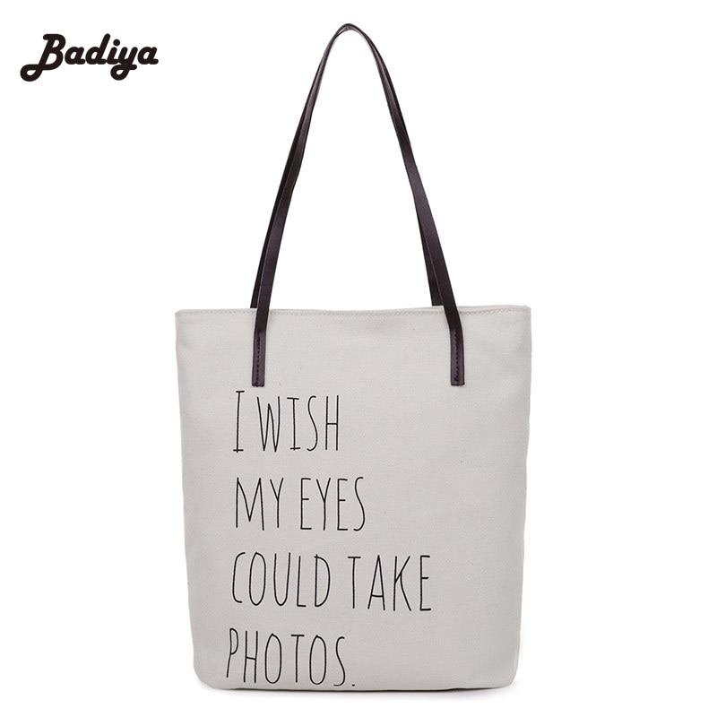 Causal Lady Handbags Letter Print Travel Shoulder Bags Female Shoulder Toto Bag Bolsa La ...