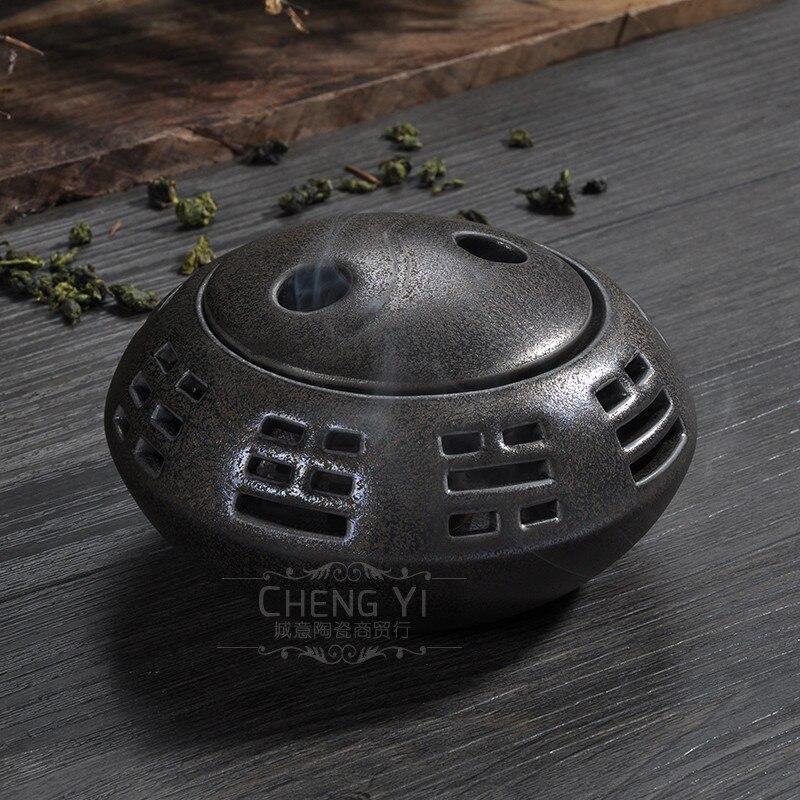 Gossip incense burner coil censer new porcelain Buddha tea
