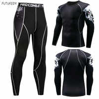 2018 winter sunscreen men's compression clothes BJJ MMA 3D teen wolf MMA clothing thermal underwear men's fitness suit