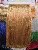 5 yards /bag gold 50 cm width tube beads ribbon fringe tassel for wedding dress /garment/decorative /dress decoration