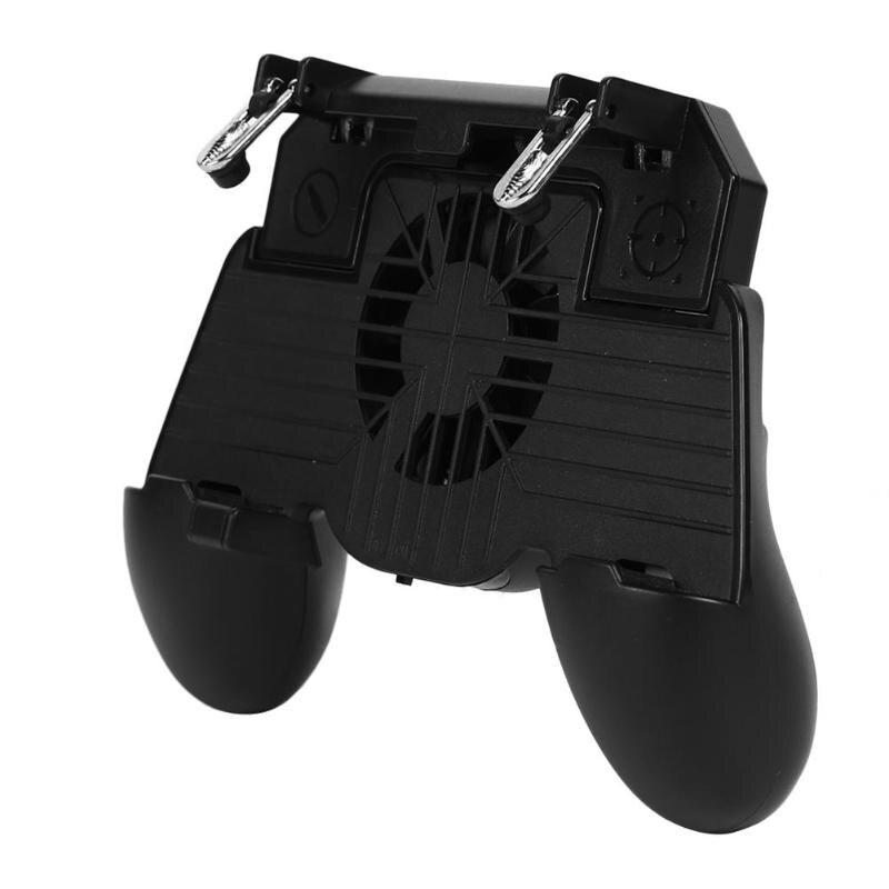 Gamepad Controller Trigger L1R1 Shooter Joystick For Pubg Mobile Phone Holder With Dual Cooler Fans For Gamer Mobile Phones