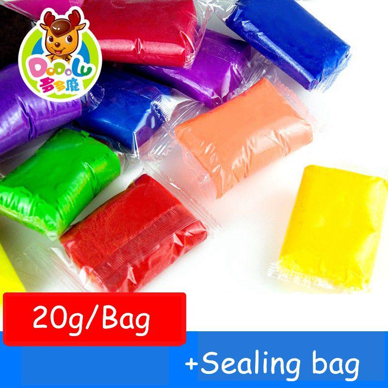 dodolu retail 20g 25 colors fimo polymer clay air dry playdough