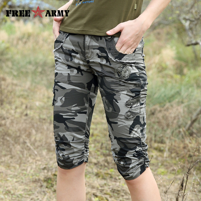 Women Combat Tactical Capris Camouflage Jogger Pants New 2017 Camo Print Sweatpants Joggers Casual Cargo Pants Plus Size 26-31 4