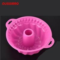 Высокая термостойкость круглая силиконовая форма для пирога форма кухонная техника выпечки инструменты для микроволновые печи