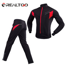 Winter Cycling Sets Suits Fleeced Therm Windproof and Waterproof Jackets+ Pants Clothing  Free Shipping