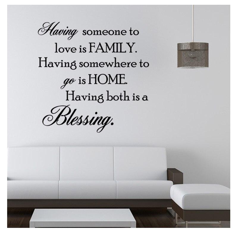 familie spreuken engels Engels Spreuken Slaapkamer Decor Familie Thuis Woonkamer Stikers  familie spreuken engels