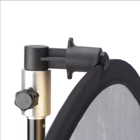 SUPON AS 50 Silver Aluminum Mini Portable Studio Photography Background And Reflector Disc Holder Clip For