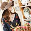 Comercio al por mayor 10 unids Women Floppy Ala Ancha de Paja de Papel Sombreros de Las Señoras Grandes Sombrero del Sol Del verano Mujeres Playa de la Paja Cap Señora Grande Brim Caps
