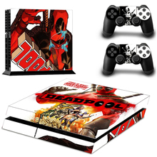 Skin Sticker PS4 DEADPOOL for PlayStation 4 Console and 2 controller skins
