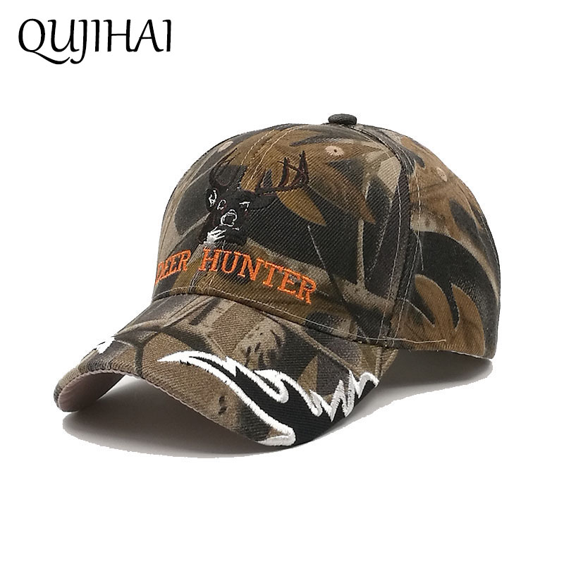 QUJIHAI Hat Men Women Baseball Cap Soldier Camouflage Snapback Caps Army Green Gorras Bone Casquette women cap skullies