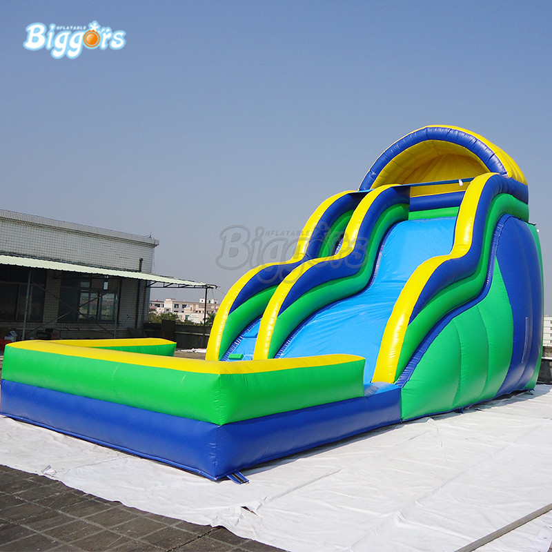 Commercial Inflatable Pool Water Slide Inflatable Water Slide Pool For Rental commercial inflatable slide with big pool giant inflatable water slide inflatable pool slide