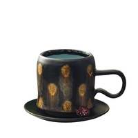 Maple Leaf Creative Handmade Ceramic Coffee Cup Set With Modern Style Dish Mug Cup Gift