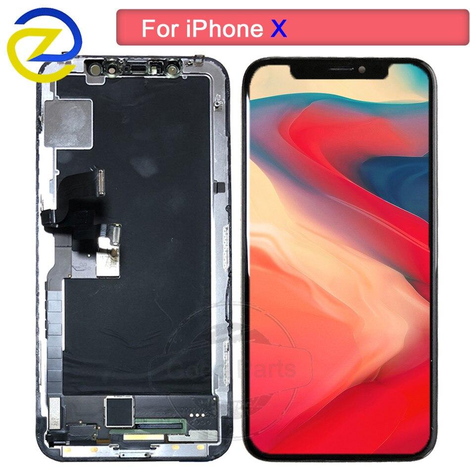 100% Test AMOLED LCD remplacement pour iPhone X LCD affichage numériseur pour iPhone 10 X lcd écran tactile assemblage pas de Pixel mort