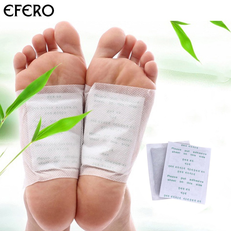 Efero 10pcs Body Detox Foot Patch Feet Care Detoxifying Foot Patches Pads With Adhersive Herbal Cleansing Improve Sleeping Slim