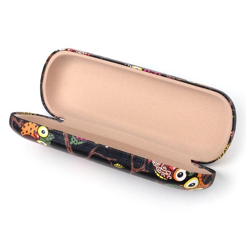 Heiße Neue 1 Stück Männer Frauen Gläser Box Cartoon Eule Tier Nette Sonnenbrille Lagerung Schutz Tragbare Fällen Hohe Qualität