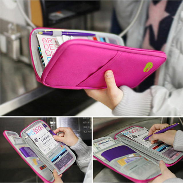 Unisex Waterproof ID Card Holder Passport Wallet Travel Document Organizer Ticket Credit Card Bag Case Multifunction Storage Bag