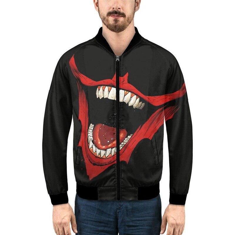 Nouvelles impressions 3D Bomber vestes hommes de haute qualité automne vêtements d'extérieur chauds marque Slim hommes Streetwear manteaux décontracté coupe-vent vestes garçons