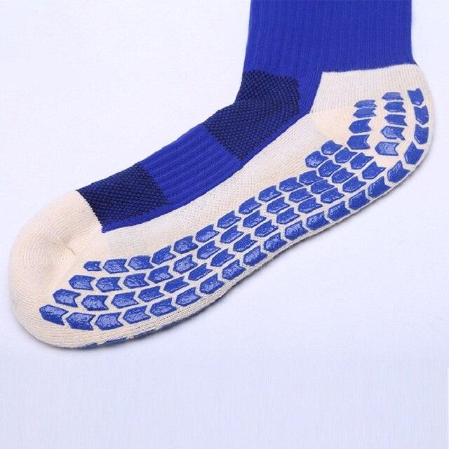 высококачественные противоскользящие футбольные носки мужские фотография