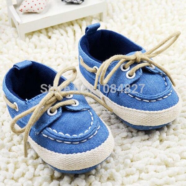 Toddler Boy Girl Miękkie Sole Crib Shoes Sznurówki Sneaker Baby - Buty dziecięce - Zdjęcie 2