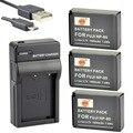 DSTE 3 UNIDS NP-85 Li-ion + UDC122 Puerto USB Cargador para Fuji SL1000 SL300 SL260 SONY HDV-CX1800E 3700E 6900E A230 cámara