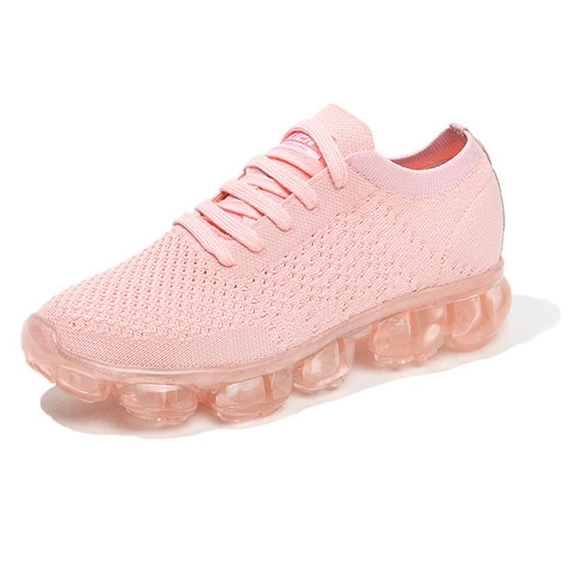 wholesale dealer eb600 04727 2017 Nuevas Mujeres de Deportes Respirables Zapatos Del Amortiguador de  Aire Zapatos Corrientes de Fondo Transparente Femenina Zapatillas de Deporte  ...