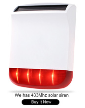 Big discount 433Mhz Wireless outdoor Solar power strobe siren SPS-260-R for  S4 alarm system in our store