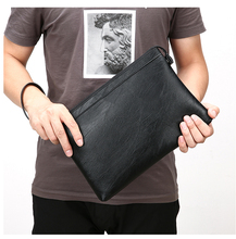 PU Leather Men Bussiness Clutch Stylish Large Capacity Wallet Workday Handbag Purse