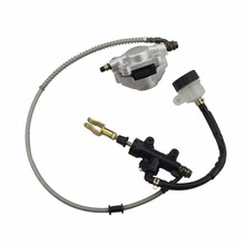 GOOFIT Rear Foot Disc Brake Assy With Oiler For 110cc 125cc 150cc 200cc 250cc ATV C029-042 110cc 125cc 150cc 200cc 250cc atv lcd speedometer odometer speed sensor free shipping