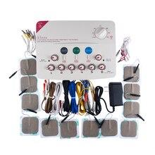 6 Channel Tens Stimulator Machine Gezondheid Body Relax Acupunctuur Stimulatie Pijnbestrijding Foot Nek Massage Chinese Geneeskunde