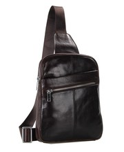 Maxdo Men Women Coffee Vintage Genuine Leather Chest Bag Messenger Bag #M7217
