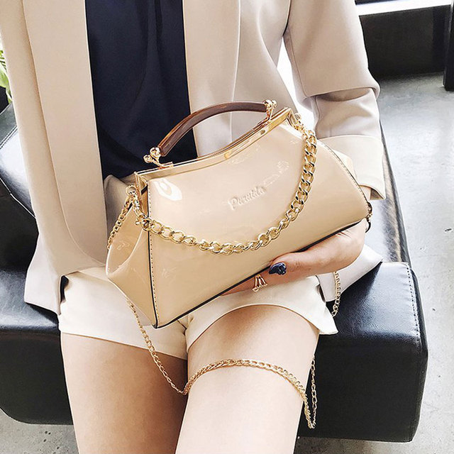 Bag For Women 2018 New Summer Candy Color Red Pink Patent Leather Handbag Shoulder Crossbody