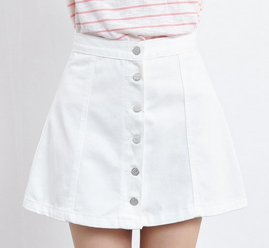 Popular White Jean Skirt-Buy Cheap White Jean Skirt lots from ...