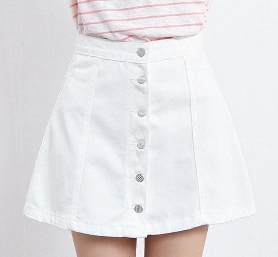 Popular White Jean Skirt-Buy Cheap White Jean Skirt lots from ...