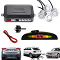 Hight quality 12V LED Car Parking Sensor Monitor Auto Reverse Backup Radar Detector System + LED Display + 4 Sensors + 4 Colors