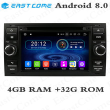 IPS 4GB RAM 32GB ROM Octa Core Android 8.0 Car DVD Player For Ford Mondeo Connect Kuga Focus 2 S C MAX Radio GPS Navigation eunavi octa core android 8 0 car dvd for mercedes benz r class w251 r280 r300 r320 r350 gps radio stereo 4gb ram 32gb rom